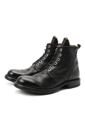 Мужские кожаные ботинки MOMA черного цвета, арт. 2CW007-CUM | Фото 1