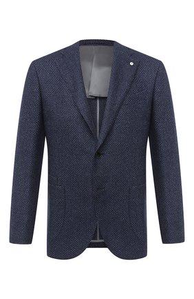 Мужской пиджак из шерсти и кашемира L.B.M. 1911 темно-синего цвета, арт. 2411/02102 | Фото 1