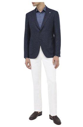 Мужской пиджак из шерсти и кашемира L.B.M. 1911 темно-синего цвета, арт. 2411/02102 | Фото 2