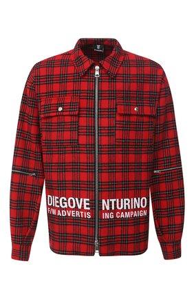 Мужская рубашка DIEGO VENTURINO красного цвета, арт. FW20-DV CMC FZDAC | Фото 1