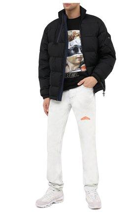 Мужской хлопковый свитшот DIEGO VENTURINO черного цвета, арт. FW20-DV FLG IRP   Фото 2