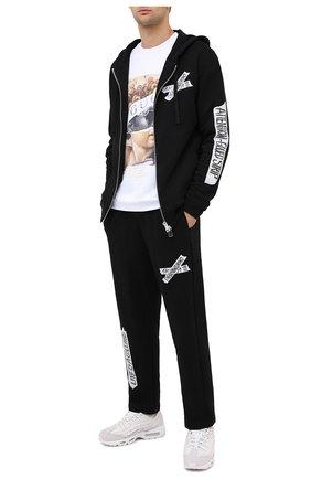 Мужской хлопковый свитшот DIEGO VENTURINO белого цвета, арт. FW20-DV FLG IRP | Фото 2