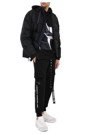 Мужской хлопковое худи DIEGO VENTURINO черного цвета, арт. FW20-DV FLH DSC   Фото 2