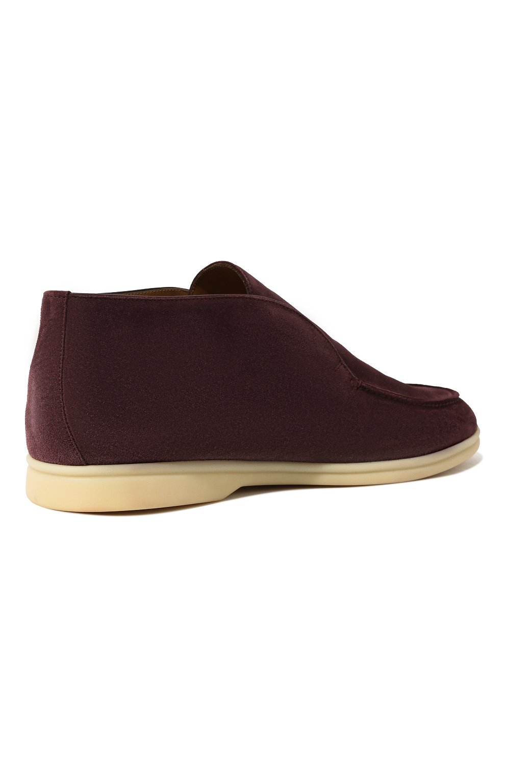 Мужские замшевые ботинки open walk LORO PIANA фиолетового цвета, арт. FAB4368   Фото 5 (Мужское Кросс-КТ: Ботинки-обувь; Материал внутренний: Натуральная кожа; Подошва: Плоская; Материал внешний: Замша)