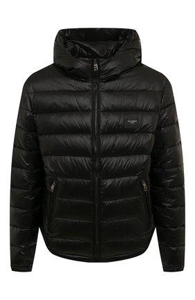 Мужская пуховая куртка DOLCE & GABBANA черного цвета, арт. G9RE2T/G7XGZ | Фото 1