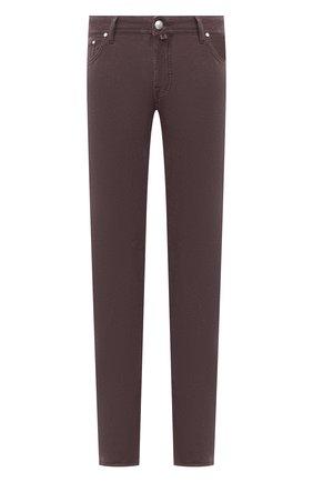 Мужской хлопковые брюки JACOB COHEN бордового цвета, арт. J688 C0MF 08805-V/54 | Фото 1