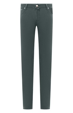 Мужские джинсы JACOB COHEN бирюзового цвета, арт. J688 C0MF 08805-V/54   Фото 1
