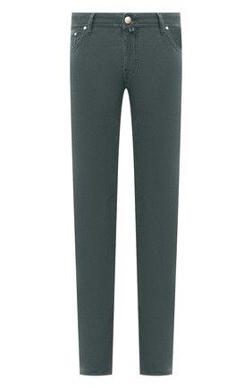 Мужской хлопковые брюки JACOB COHEN зеленого цвета, арт. J688 C0MF 08805-V/54 | Фото 1