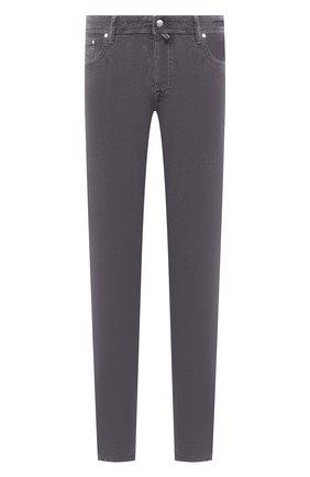 Мужской хлопковые брюки JACOB COHEN серого цвета, арт. J688 C0MF 08805-V/54 | Фото 1