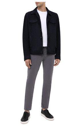 Мужской хлопковые брюки JACOB COHEN серого цвета, арт. J688 C0MF 08805-V/54 | Фото 2