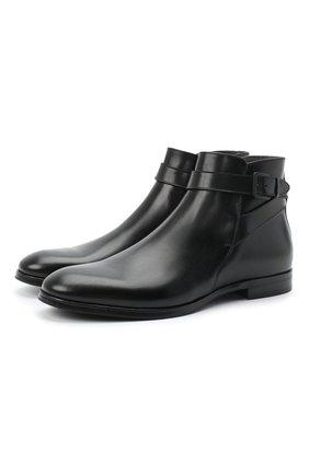 Мужские кожаные сапоги SERGIO ROSSI черного цвета, арт. A91380-MMVG04 | Фото 1