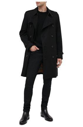 Мужские кожаные сапоги SERGIO ROSSI черного цвета, арт. A91380-MMVG04 | Фото 2