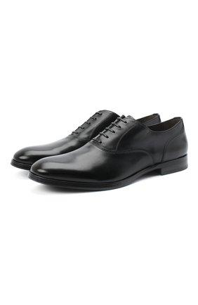 Мужские кожаные оксфорды SERGIO ROSSI черного цвета, арт. A91460-MMVG04   Фото 1