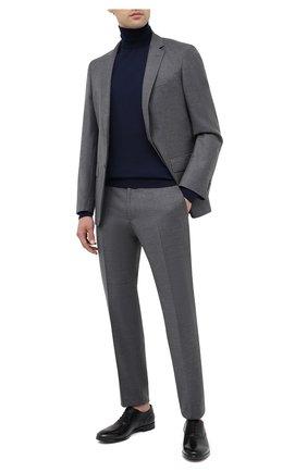 Мужские кожаные оксфорды SERGIO ROSSI черного цвета, арт. A91460-MMVG04   Фото 2