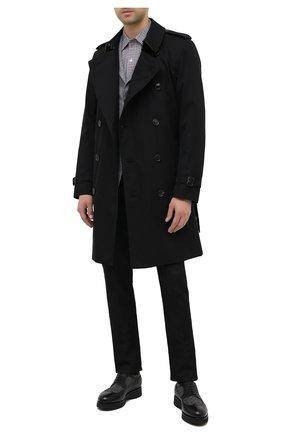 Мужской комбинированные дерби DOUCAL'S черного цвета, арт. DU1270DAK0PT448NN00 | Фото 2