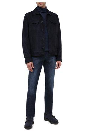 Мужские текстильные монки DOUCAL'S темно-синего цвета, арт. DU2706DAK0UT032NB00 | Фото 2