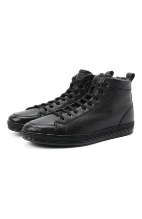 Мужские кожаные ботинки DOUCAL'S черного цвета, арт. DU2709GENTUM019NN00 | Фото 1