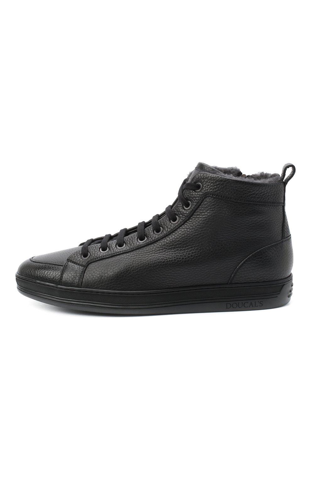Мужские кожаные ботинки DOUCAL'S черного цвета, арт. DU2709GENTUM019NN00 | Фото 3