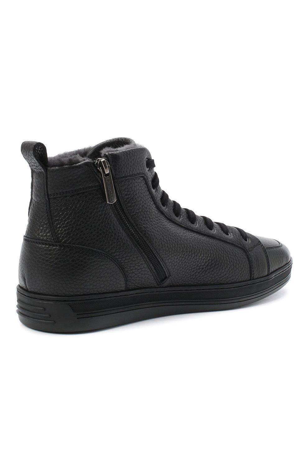 Мужские кожаные ботинки DOUCAL'S черного цвета, арт. DU2709GENTUM019NN00 | Фото 4