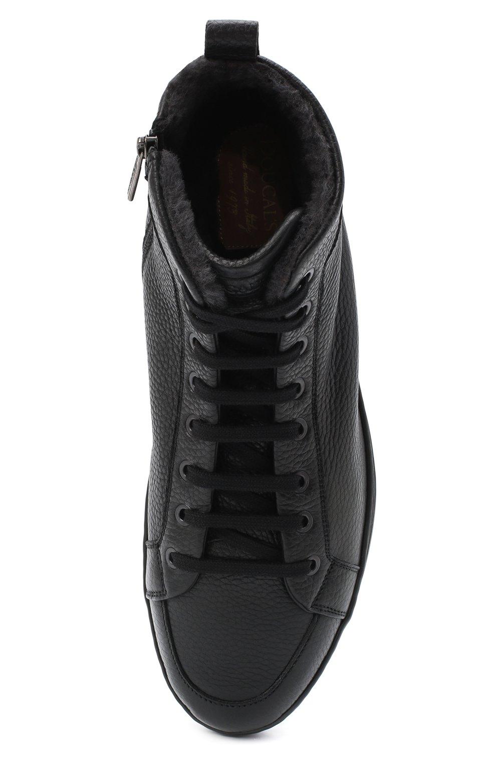 Мужские кожаные ботинки DOUCAL'S черного цвета, арт. DU2709GENTUM019NN00 | Фото 5