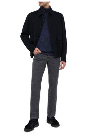 Мужской замшевые дерби DOUCAL'S темно-синего цвета, арт. DU2736PHILUF024NB00 | Фото 2