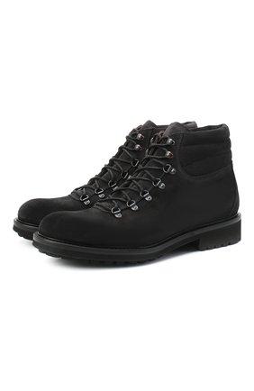 Мужские замшевые ботинки DOUCAL'S темно-серого цвета, арт. DU27480TTAUF024NN05 | Фото 1