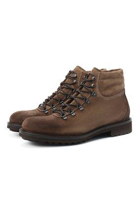 Мужские замшевые ботинки DOUCAL'S коричневого цвета, арт. DU27480TTAUF024TC02 | Фото 1