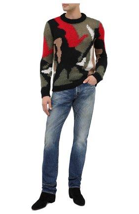 Мужские джинсы SAINT LAURENT синего цвета, арт. 597052/Y945Q | Фото 2
