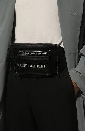 Мужская текстильная поясная сумка SAINT LAURENT черного цвета, арт. 581375/H021Z | Фото 2