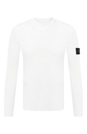 Мужской шерстяной джемпер STONE ISLAND белого цвета, арт. 7315521C2 | Фото 1
