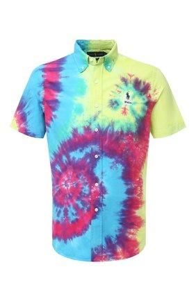 Мужская хлопковая рубашка POLO RALPH LAUREN разноцветного цвета, арт. 710805556/4813 | Фото 1