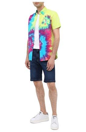 Мужская хлопковая рубашка POLO RALPH LAUREN разноцветного цвета, арт. 710805556/4813 | Фото 2