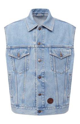 Мужской джинсовый жилет GUCCI голубого цвета, арт. 623944/XDA85 | Фото 1