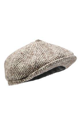 Мужская шерстяное кепи BRUNELLO CUCINELLI бежевого цвета, арт. MQ4079945 | Фото 1