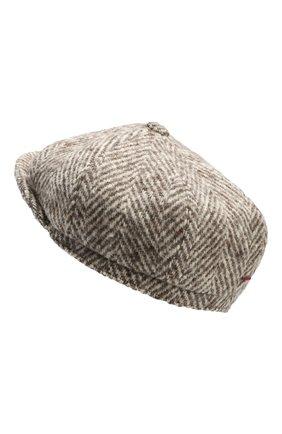 Мужская шерстяное кепи BRUNELLO CUCINELLI бежевого цвета, арт. MQ4079945 | Фото 2