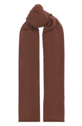 Мужской кашемировый шарф ALLUDE коричневого цвета, арт. 205/30025 | Фото 1