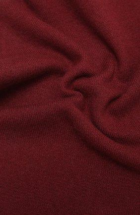 Мужской кашемировый шарф ALLUDE бордового цвета, арт. 205/30025 | Фото 2