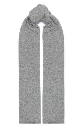 Мужской кашемировый шарф ALLUDE серого цвета, арт. 205/30025 | Фото 1