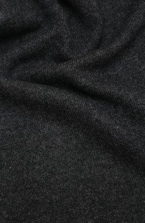 Мужской кашемировый шарф ALLUDE темно-серого цвета, арт. 205/30025 | Фото 2