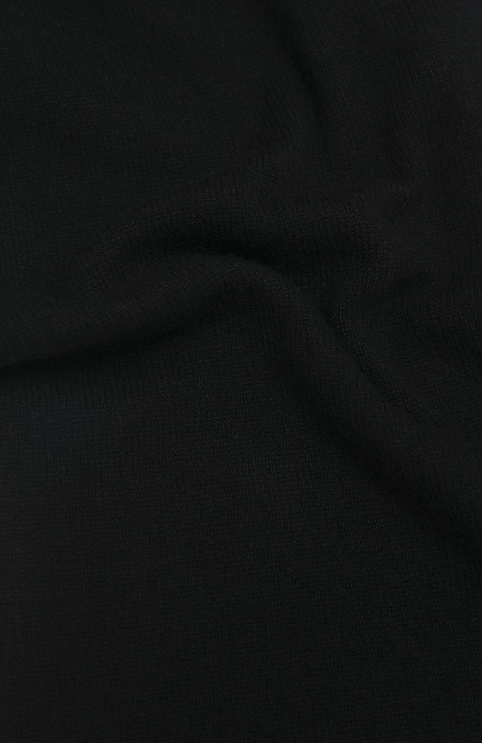 Мужской кашемировый шарф ALLUDE черного цвета, арт. 205/30025   Фото 2 (Материал: Кашемир, Шерсть)