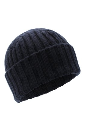 Мужская кашемировая шапка ALLUDE темно-синего цвета, арт. 205/60050 | Фото 1