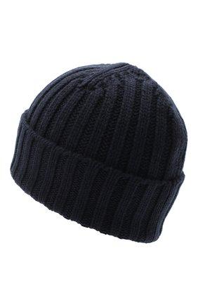 Мужская кашемировая шапка ALLUDE темно-синего цвета, арт. 205/60050 | Фото 2