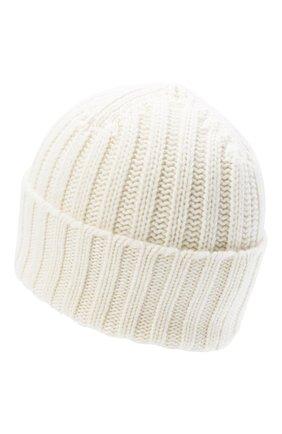 Мужская кашемировая шапка ALLUDE белого цвета, арт. 205/60050 | Фото 2