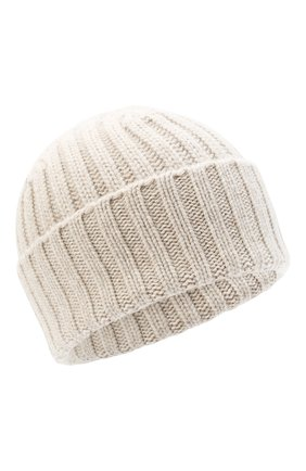 Мужская кашемировая шапка ALLUDE бежевого цвета, арт. 205/60050 | Фото 1