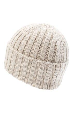 Мужская кашемировая шапка ALLUDE бежевого цвета, арт. 205/60050 | Фото 2