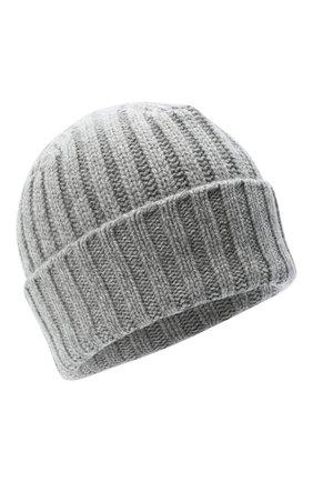 Мужская кашемировая шапка ALLUDE серого цвета, арт. 205/60050 | Фото 1