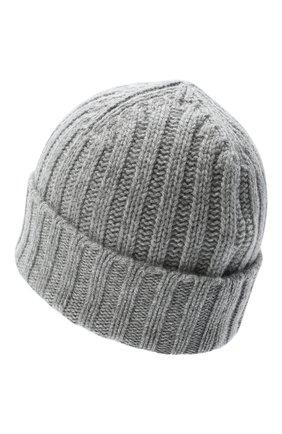 Мужская кашемировая шапка ALLUDE серого цвета, арт. 205/60050 | Фото 2