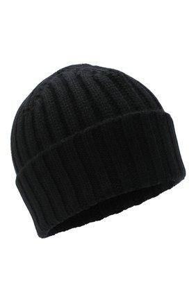 Мужская кашемировая шапка ALLUDE черного цвета, арт. 205/60050 | Фото 1