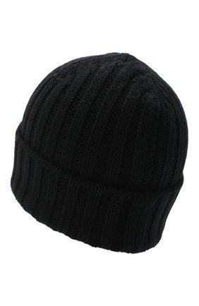 Мужская кашемировая шапка ALLUDE черного цвета, арт. 205/60050 | Фото 2