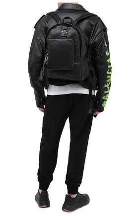 Мужской кожаный рюкзак VIC MATIE черного цвета, арт. 1Y0524T.999C7MB001 | Фото 2